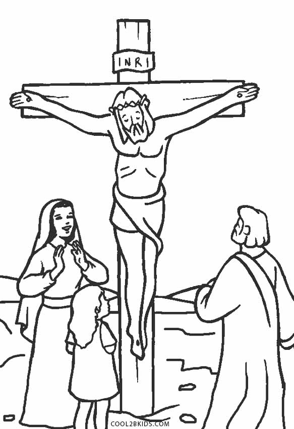 583x850 Free Printable Jesus Coloring Pages For Kids