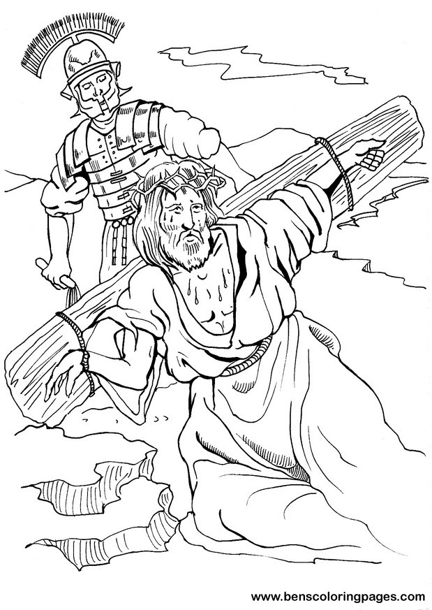 Jesus Christ On The Cross Coloring Pages at GetDrawings.com ...