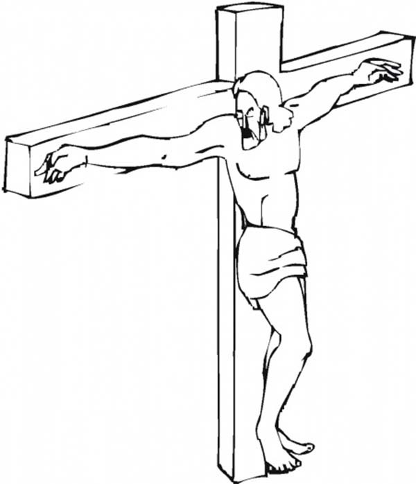 600x698 Good Friday Coloring Pages Jesus Christ Batch Coloring