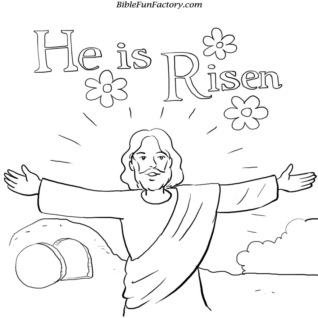 1024x1024 Jesus Christ Carrying The Cross Coloring Page Easter Sermon