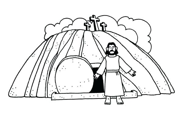 600x400 Jesus Christ Coloring Pages Burial And Resurrection Coloring Page