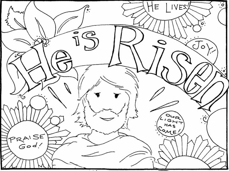 802x598 Jesus Is Risen Coloring Pages
