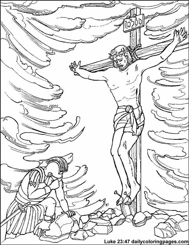 650x843 Jesus On Cross Coloring Page