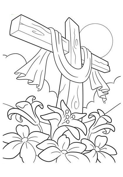 419x603 Top Free Printable Cross Coloring Pages Online Bible, Culture