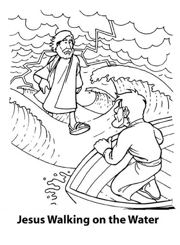 600x816 Can Walk On The Water Is Miracles Of Jesus Coloring Page