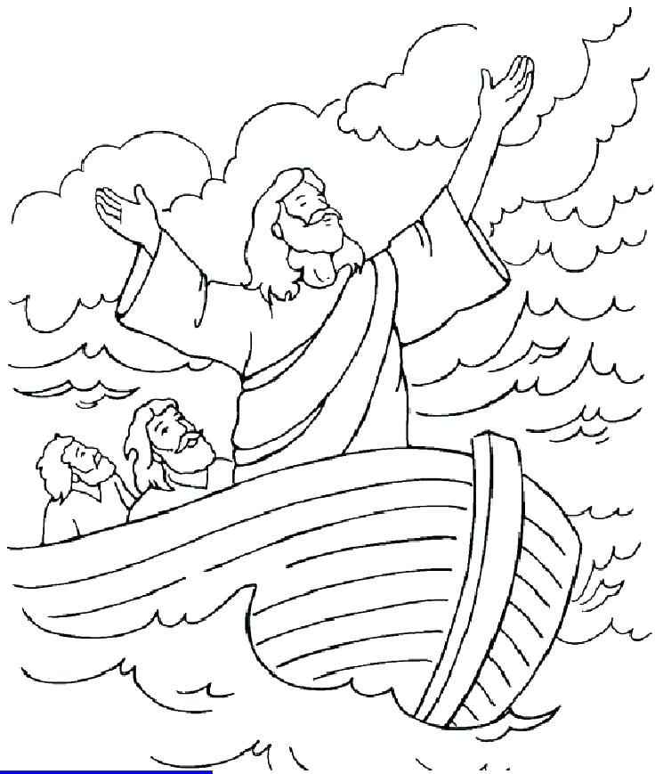 736x869 Jesus Coloring Page Walking On Water Coloring Page Coloring
