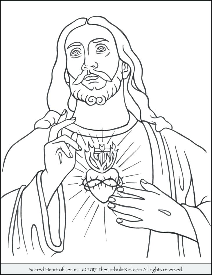 730x945 Jesus Coloring Pages Sacred Heart Of Coloring Page Jesus Coloring