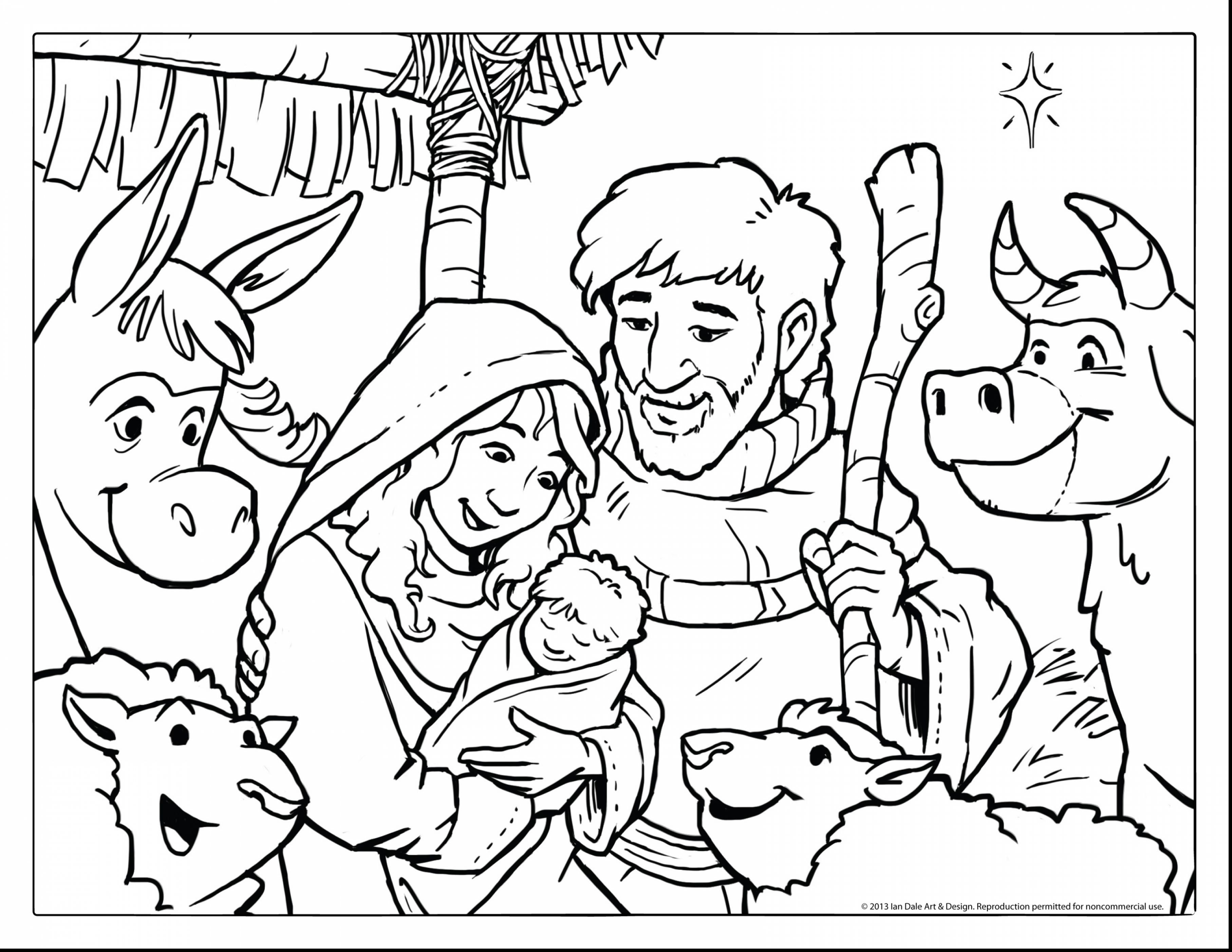 3630x2805 Outstanding Baby Jesus Nativity Coloring Pages With Nativity Scene