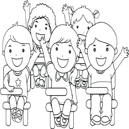500x500 Jesus Loves The Little Children Coloring Pages Deepart