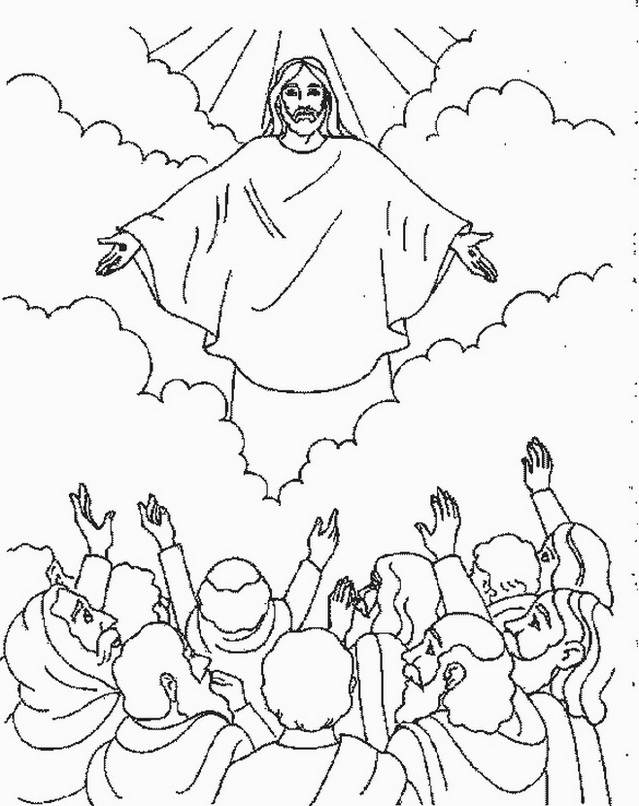 639x806 Ascension Of Jesus Christ Coloring Pages