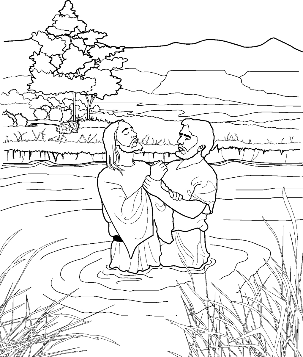 1020x1200 Awesome Jesus Being Baptized Coloring Pages Gallery Printable