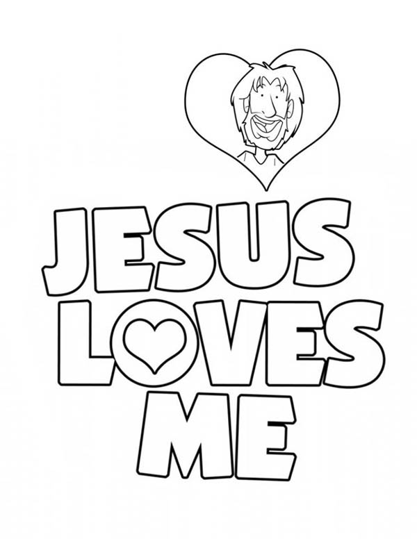 600x776 Jesus Loves Me Coloring Pages Jesus Love Me Sticker Coloring Page