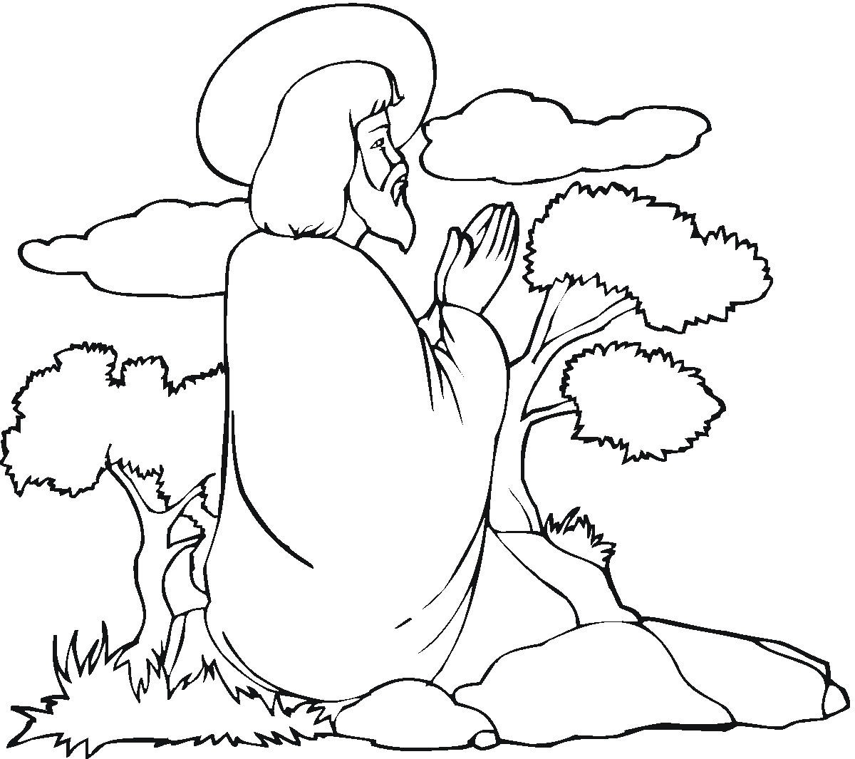 1200x1065 Jesus Coloring Page
