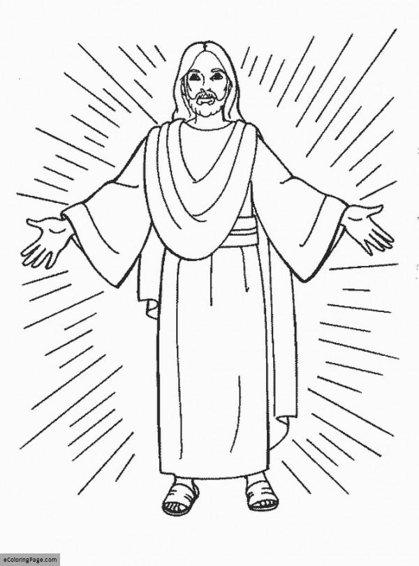 600x811 Jesus Coloring Page For Kids Printable