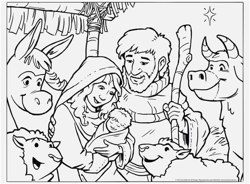 827x609 Jesus Coloring Pages For Preschoolers Picture Printable Christmas