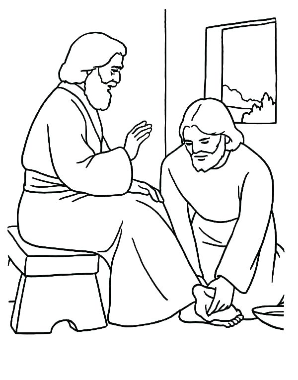 600x765 Jesus Printable Coloring Pages Coloring Pages For Kids Printable