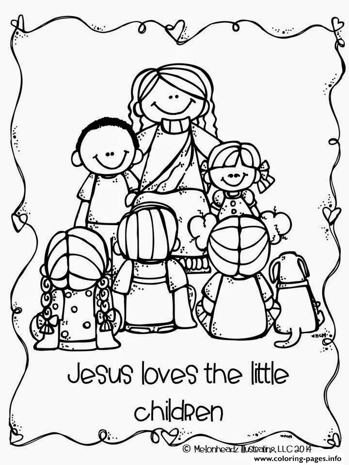 720x960 Jesus With Children Coloring Pages Collection