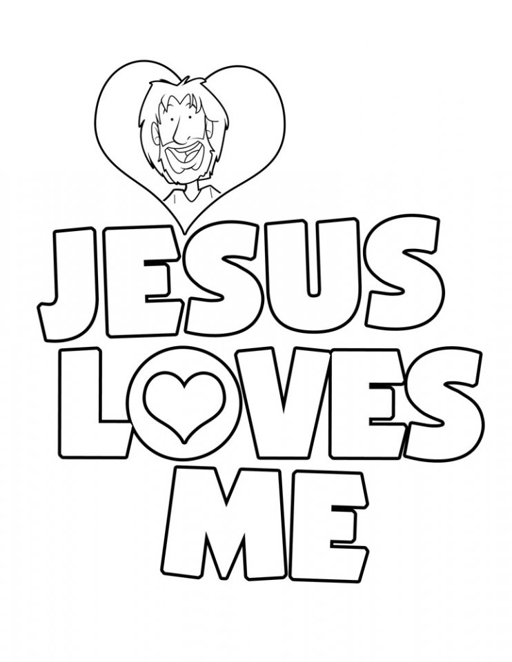 742x960 Spectacular Jesus Coloring Pages For Kids