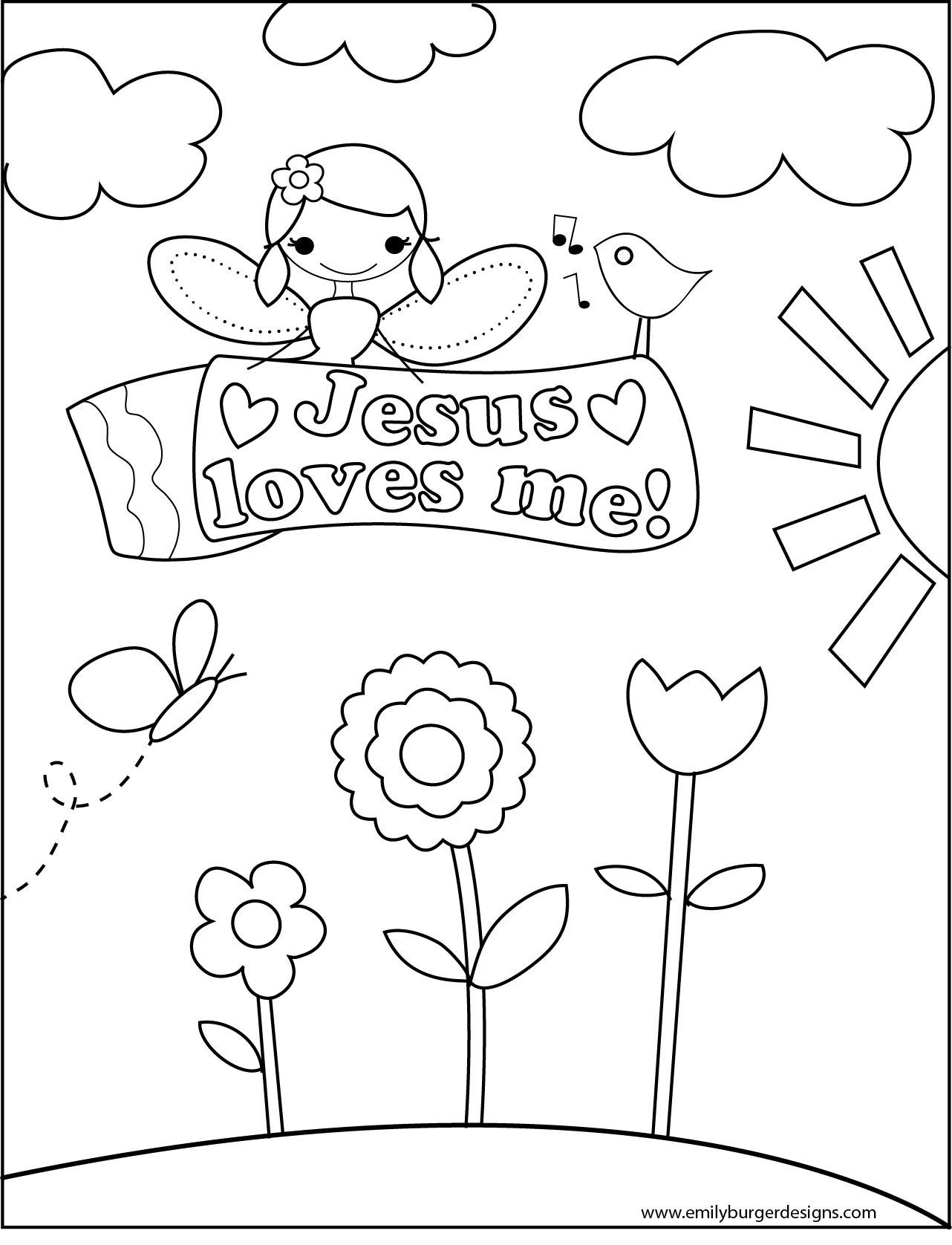 1282x1676 Catchy Jesus Loves Me Coloring Page Preschool In Humorous