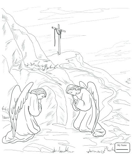 425x500 Crucifixion Coloring Pages Medium Size Of Resurrection Coloring