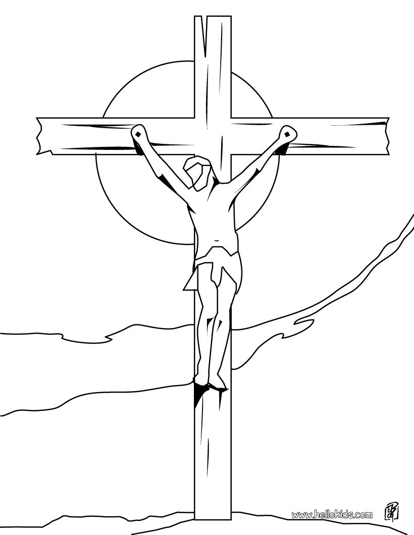 820x1060 Crucifixion Of Jesus Coloring Pages