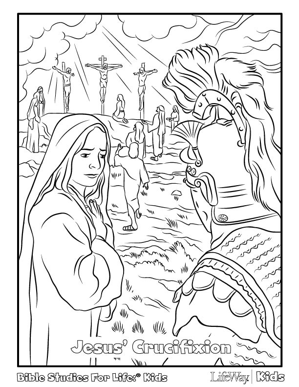 612x792 Free Easter Coloring Pages Coloring Page Of Jesus Crucifixion