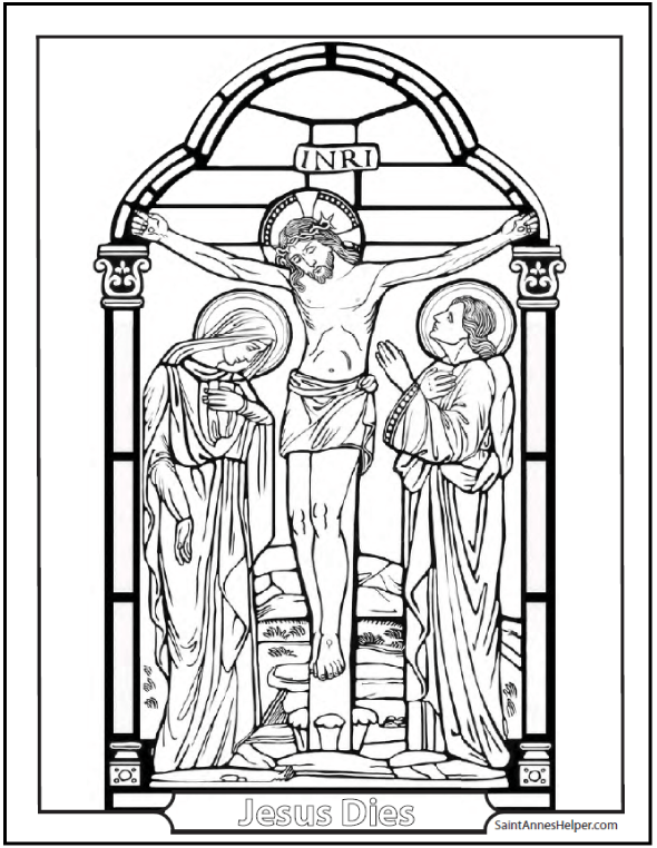 590x762 Good Friday Coloring Page Mary, Lent And Catholic Kids
