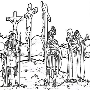 300x300 Good Friday Coloring Pages Jesus Christ Batch Coloring