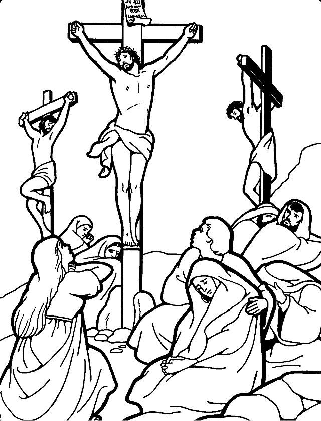 Jesus Crucified Coloring Pages At Getdrawings Free Download