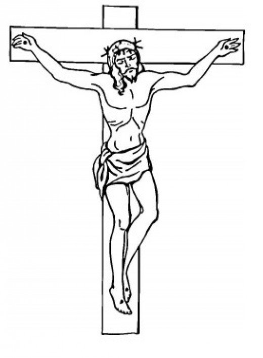 520x708 Jesus On The Cross Coloring Pages