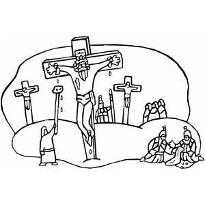 300x300 Crucifixion Coloring Page