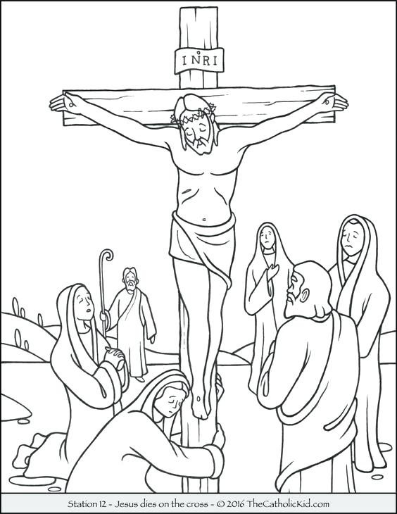 564x730 Crucifixion Coloring Pages Coloring Pages Died On The Cross