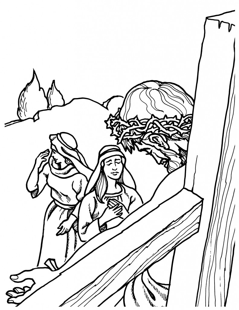 Jesus Crucifixion Coloring Pages At Getdrawings Com Free For