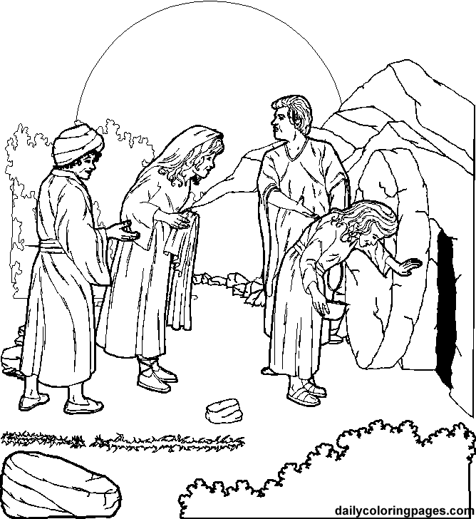 668x728 Jesus Resurrection Coloring Pages Crucifixion And Resurrection