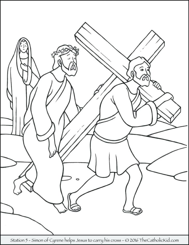 728x942 Coloring Pages Jesus Cross Coloring Pages Died For You Coloring