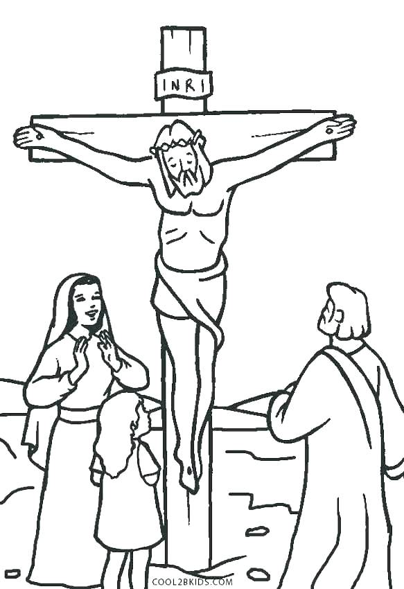 583x850 Coloring Pages Jesus Died On The Cross Professional