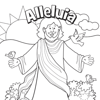 Jesus Easter Coloring Pages at GetDrawings.com | Free for personal ...