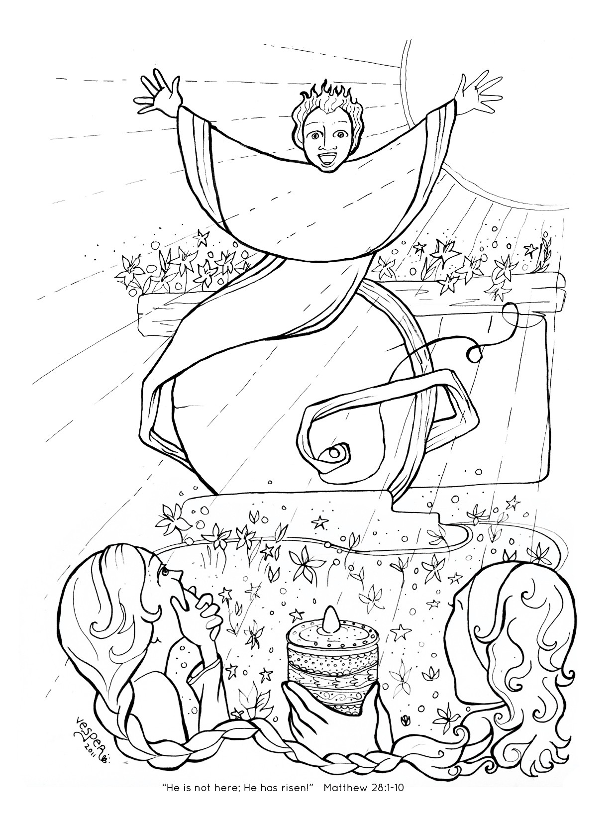 1238x1650 Coloring Pictures Of Jesus Empty Tomb New Resurrection Coloring