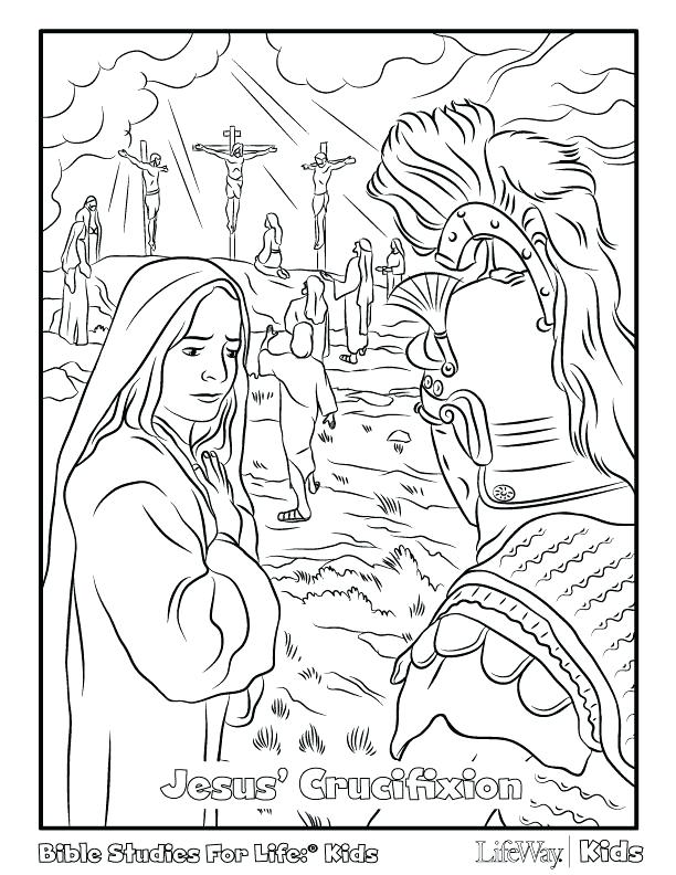 612x792 Crucifixion Coloring Pages The Empty Tomb Coloring Page Jesus