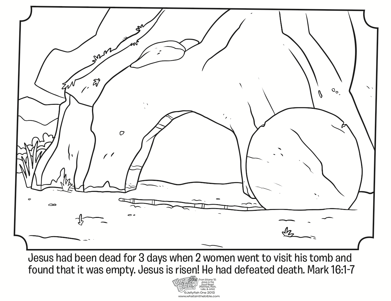 1280x985 Empty Tomb Easter Coloring Page Resurrection Sunday Proud To Be