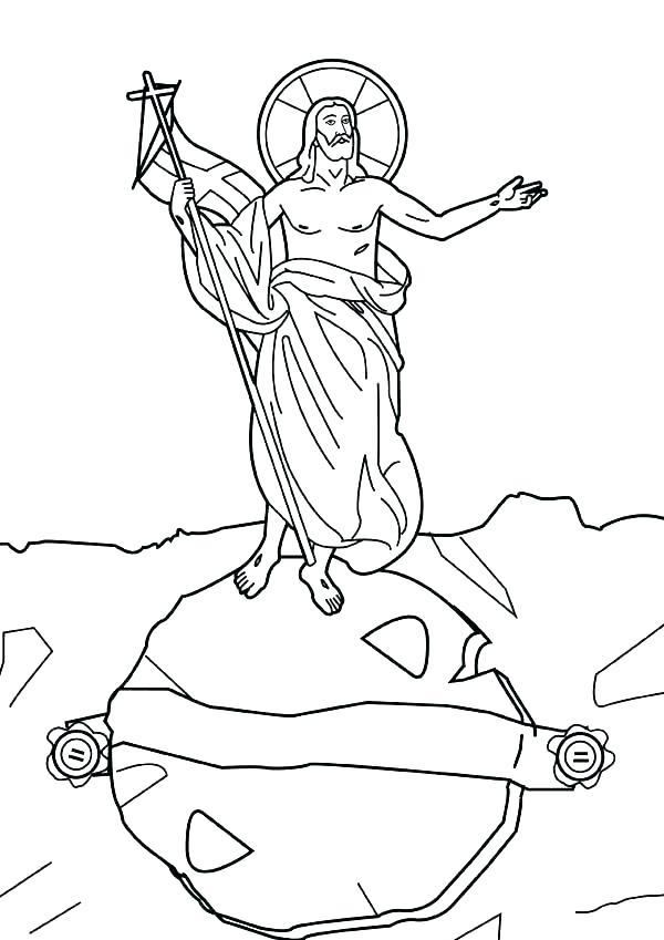600x849 Jesus Christ Resurrection Coloring Page Pages Color Bros