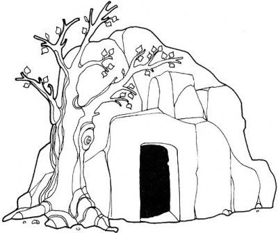 400x335 Empty Tomb Catholic Kids Coloring Pages Empty Tomb