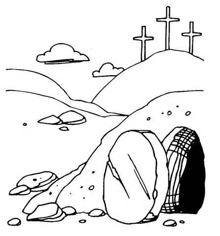 448x480 Free Clipart Jesus Empty Tomb