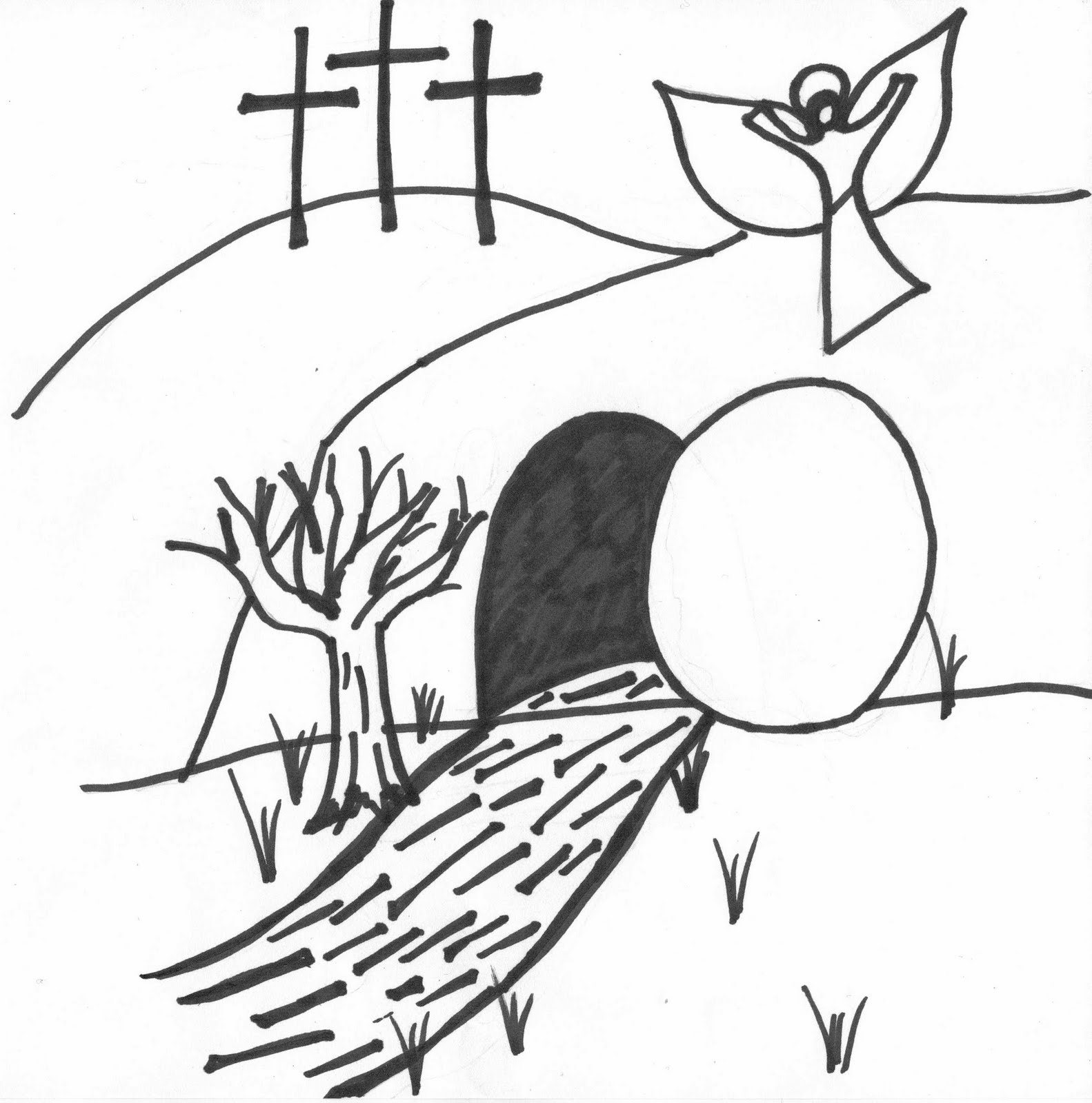 1583x1600 Best Of Jesus Empty Tomb Coloring Pages