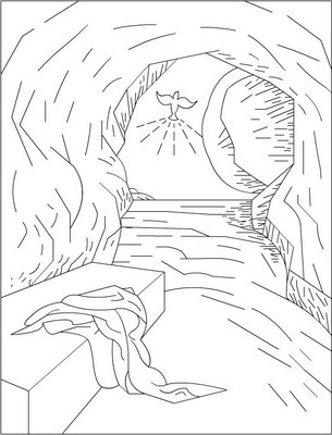 305x400 Christian Easter Coloring Pages