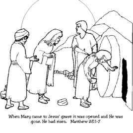 268x268 Coloring Page Jesus Empty Tomb Archives