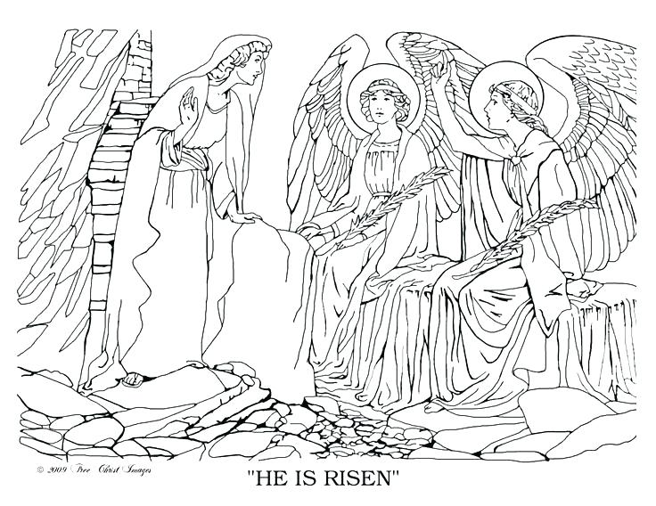 736x568 He Is Risen Coloring Page Religious Coloring Pages Free Bible