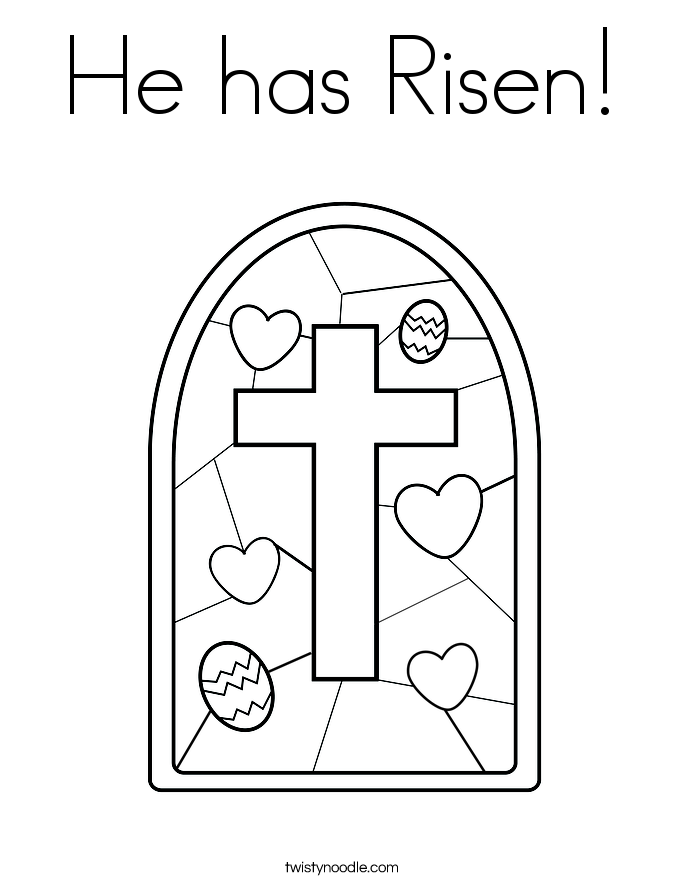 685x886 He Has Risen Coloring Page