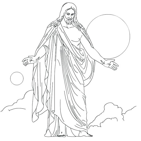 600x600 Jesus Is Risen Coloring Page Coloring Pages For Religious Bible