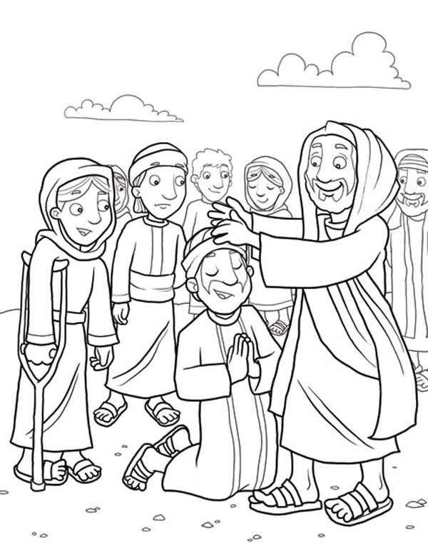 600x776 Heals The Sick Because Miracles Of Jesus Coloring Page